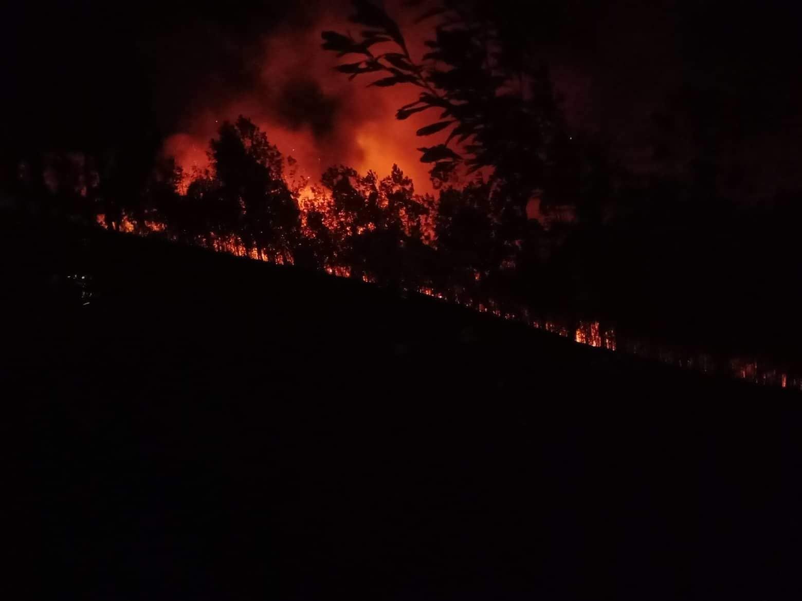 Hà Tĩnh lại cháy rừng giữa đêm, phát loa kêu gọi dân dập lửa