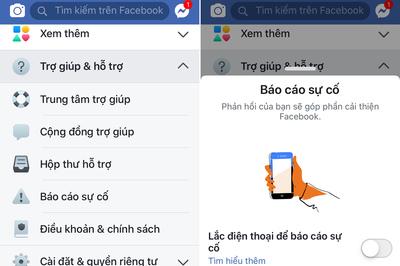 Cách bỏ thông báo 'Lắc điện thoại để báo cáo sự cố' của Facebook