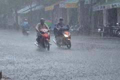 Đêm nay miền Trung bắt đầu mưa to