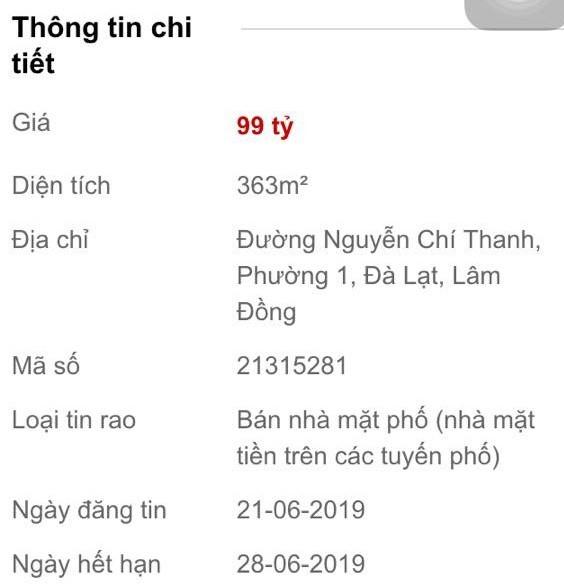 Siêu cò tung chiêu hét giá đất Đà Lạt chạm đỉnh 1 tỷ đồng/m2