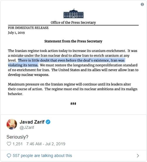 Mỹ,Iran,Tehran,Washington,Donald Trump,Nhà Trắng,Hạt nhân,hiệp ước,JCPOA,Stephanie Grisham