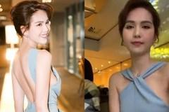 Cùng mặc 1 chiếc váy nhưng trái với livestream lộ ngực xập xệ, Ngọc Trinh tung ảnh lên Facebook gợi cảm đến ngỡ ngàng