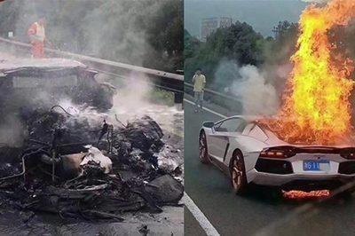 Siêu xe 30 tỷ đi mượn bất ngờ cháy thành tro, tài xế khóc ròng