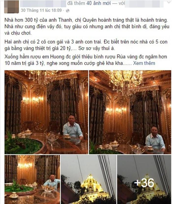 Cận cảnh căn biệt thự 300 tỷ dát vàng ở Hà Nội