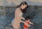 3 mỹ nhân bầu 'vượt mặt' vẫn hở bạo với bikini: Diệp Lâm Anh nóng bỏng nhất?