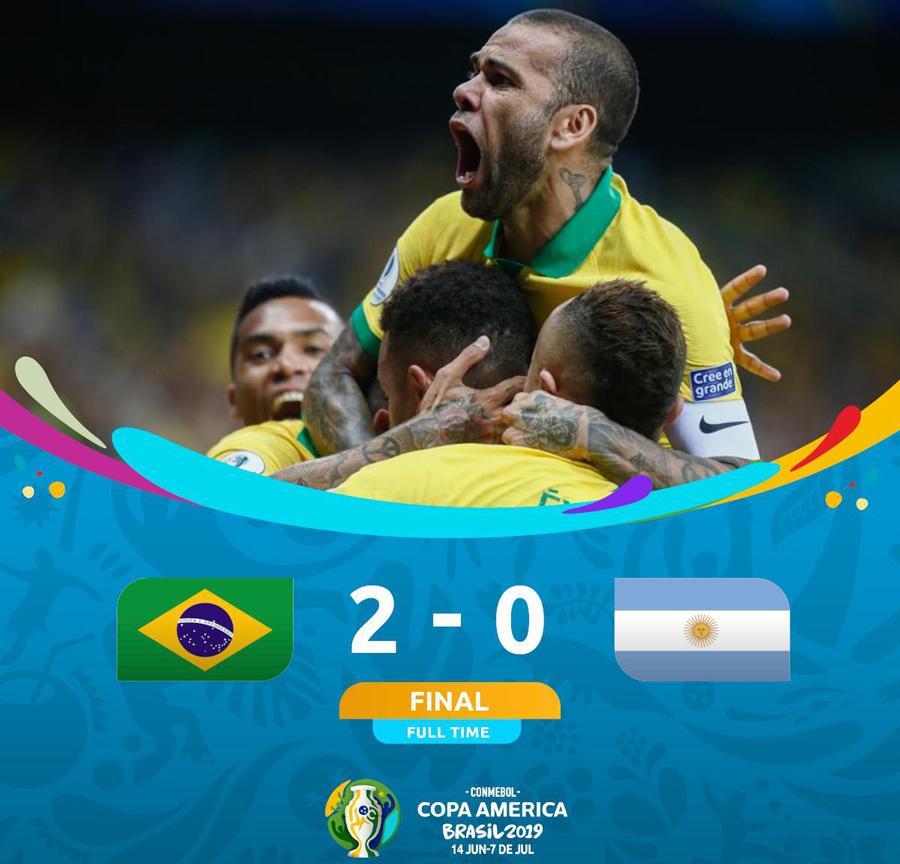 Brazil thổi bay Argentina vào chung kết Copa America