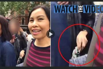 Xem băng 'nữ quái' nẫng ví du khách trong chớp mắt