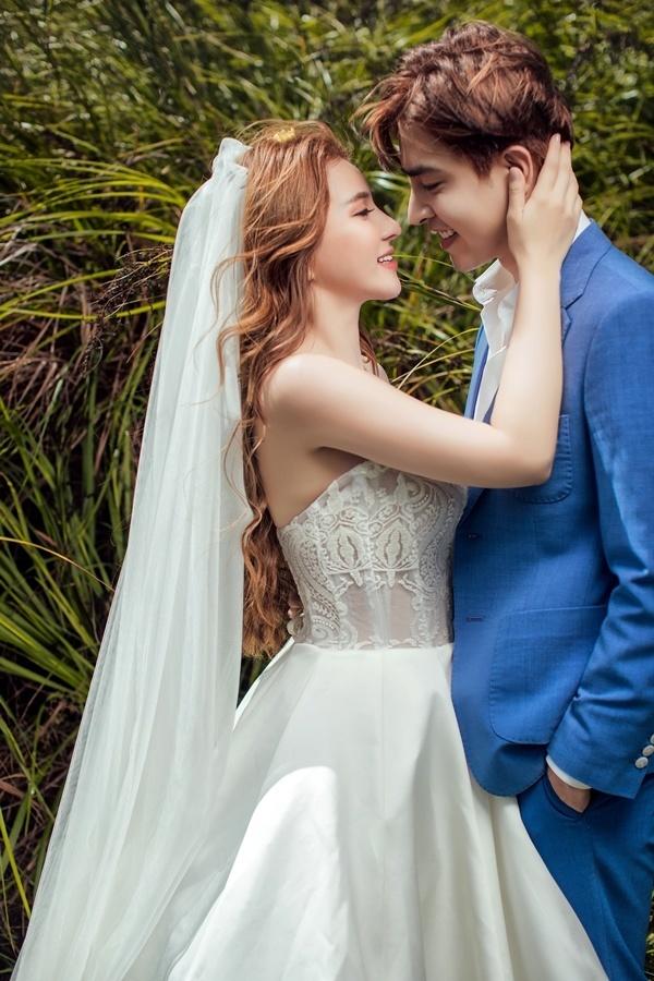 Ảnh cưới lãng mạn của Thu Thủy và bạn trai kém 10 tuổi