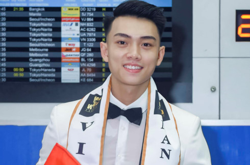 Vietnam's Cong Phat competes for Man Of The World 2019 pageant