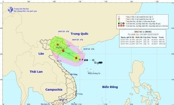 Storm Mun to hit northern Vietnam