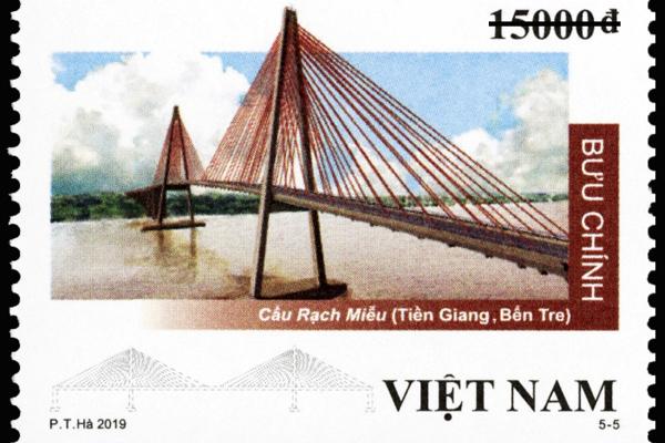 Phát hành bộ tem 'Cầu dây văng Việt Nam'