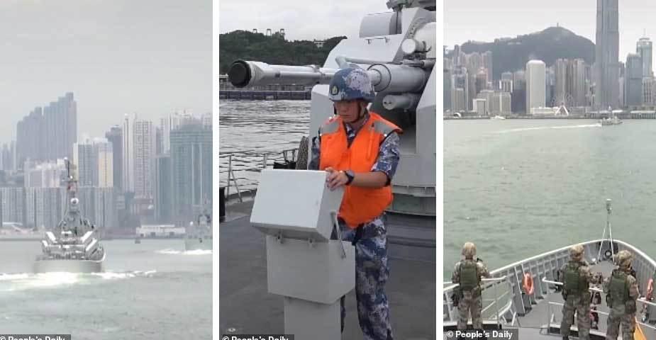 Giữa căng thẳng, TQ diễn tập quân sự rầm rộ ở Hong Kong