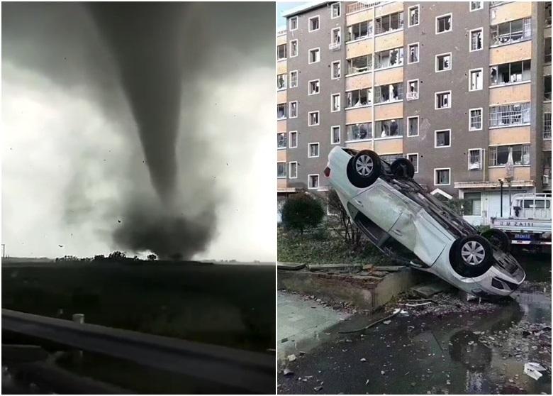 Vòi rồng tàn phá thành phố TQ như 'ngày tận thế', hơn 200 người thương vong
