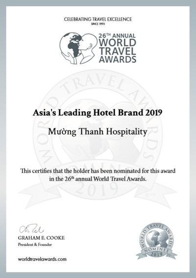 Mường Thanh tiếp tục lọt đề cử 'thương hiệu khách sạn hàng đầu Châu Á 2019'