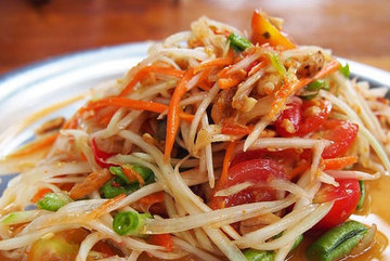 Mixed papaya salad a must-try in An Giang