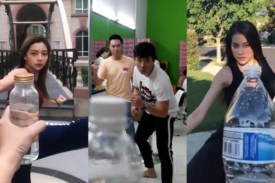 Trấn Thành, Phạm Hương hào hứng với trào lưu xoay người đá nắp chai