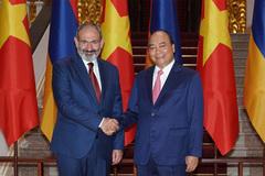 Hình ảnh Thủ tướng đón, hội đàm với Thủ tướng Armenia