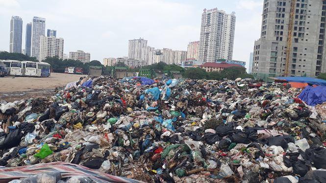 rác chung cư,ù ứ rác,hà nội ngập rác