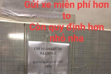 Shop quần áo ở Sài Gòn bị tố 'chặt chém' 200.000 đồng gửi xe