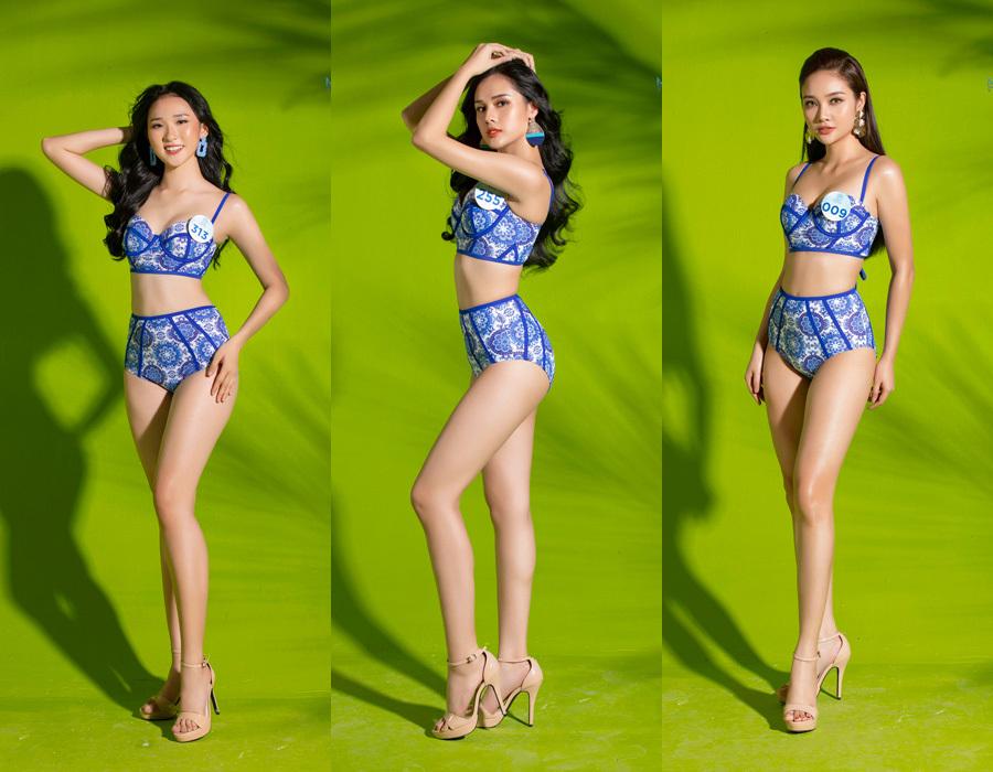 Dàn thí sinh Miss World Việt Nam mặc bikini khoe thân hình nóng bỏng