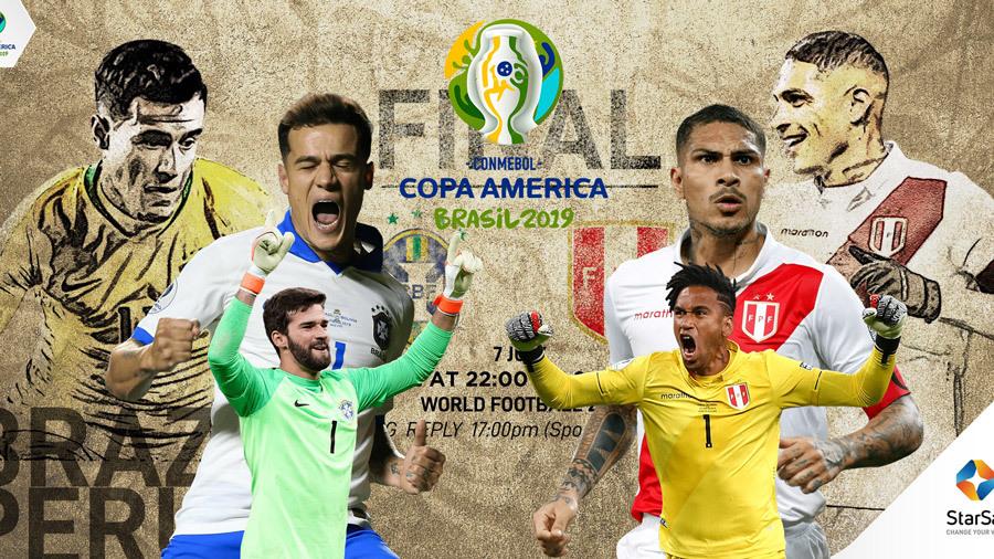Xem lại Brazil vs Peru, 3h00 ngày 8/7, chung kết Copa America 2019