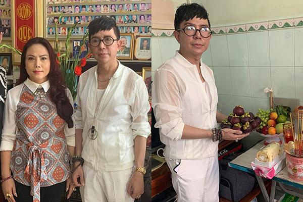 Long Nhật và vợ nghẹn ngào làm lễ 49 ngày mất cho Vương Bảo Tuấn