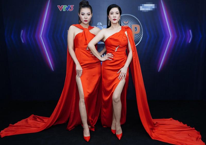 Thanh Hương diện váy đỏ khoe vóc dáng gợi cảm