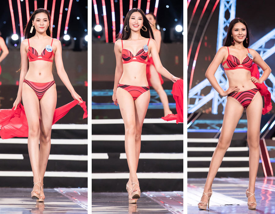 Bạn gái Trọng Đại mặc bikini rực lửa vẫn bị loại khỏi Miss World Việt Nam