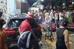 """Người dân kể lại lúc nữ tài xế Mercedes tông một loạt xe máy: """"Cô ấy không say, nhưng chắc đi giày cao gót nên vướng chân ga"""""""