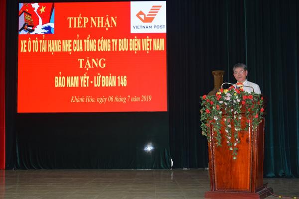 Bưu điện Việt Nam tặng bộ đội Trường Sa xe chở hàng hóa