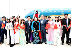 Chủ tịch QH tới Giang Tô, bắt đầu thăm chính thức Trung Quốc