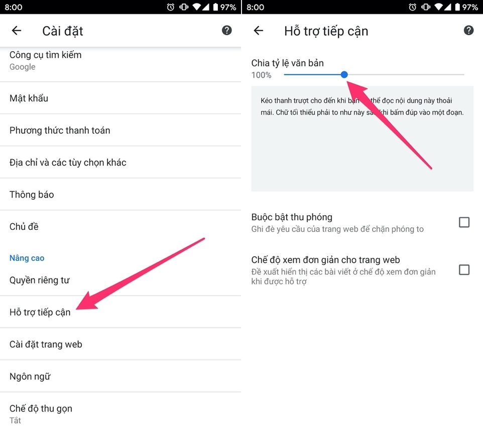 Google Chrome,Android,thủ thuật Android