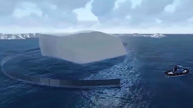 Triệu phú kéo cả núi băng từ Nam Cực về làm đồ uống