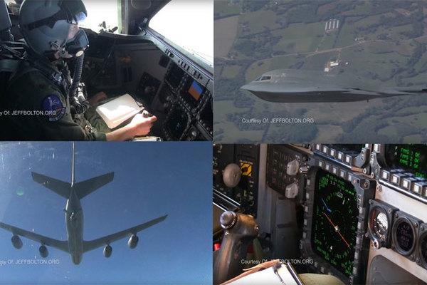 Xem phi công lái siêu cơ bom tàng hình B-2