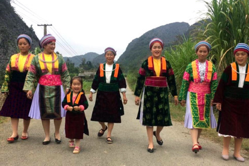 Costumes of Mong women in Ha Giang