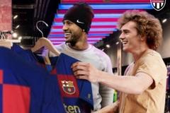 Sốt hình ảnh Neymar và Griezmann đình công, cùng đại náo Barca