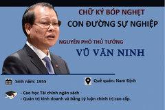 Quan lộ và những sai phạm nghiêm trọng của nguyên Phó Thủ tướng Vũ Văn Ninh