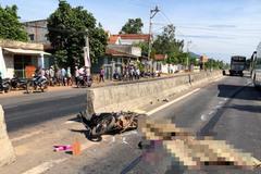 Ông bà tử vong, cháu gái thương nặng sau va chạm xe tải ở Bình Định