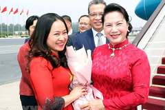 Chủ tịch QH đến Bắc Kinh, tiếp tục chuyến thăm Trung Quốc