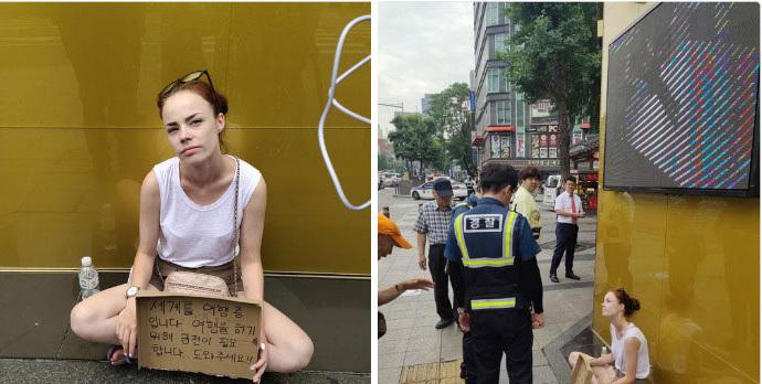 Cô gái xinh đẹp ăn xin trên phố, biết lý do ai cũng bức xúc