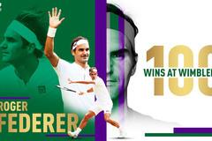 Hạ Nishikori, Federer thắng trận thứ 100 ở Wimbledon