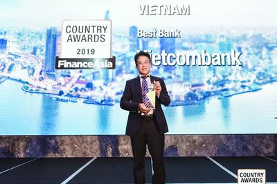 Vietcombank nhận giải Ngân hàng tốt nhất Việt Nam 2019 của Finance Asia