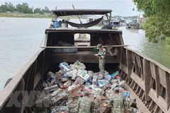 Seven tonnes of smuggled iron scrap seized in Vietnam