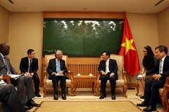Deputy PM Pham Binh Minh meets sponsors to discuss disbursement of ODA projects