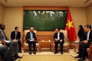 Deputy PM Pham Binh Minh meets sponsors to discuss disbursement of ODA projects