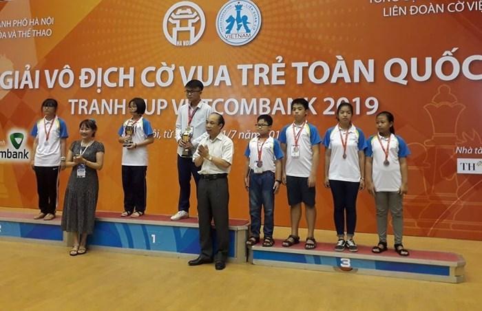 TPHCM nhất toàn đoàn giải cờ vua trẻ toàn quốc 2019