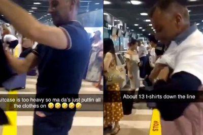 'Né' phí quá cân, hành khách 'nhồi' cùng lúc 15 chiếc áo lên người