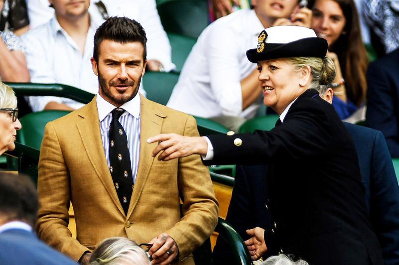 David Beckham,Wimbledon