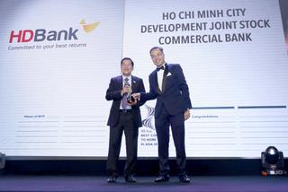 HDBank vào danh sách 'Nơi làm việc tốt nhất châu Á'