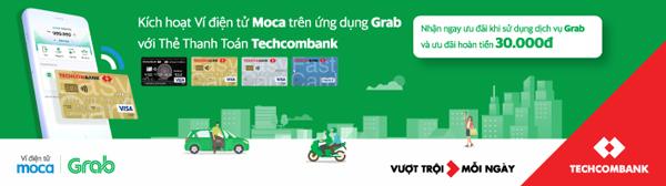 Chủ thẻ Techcombank thanh toán tiện lợi qua Ví điện tử Moca